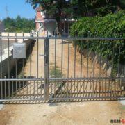 Ворота из нержавеющей стали №5