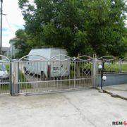 Ворота из нержавеющей стали №6