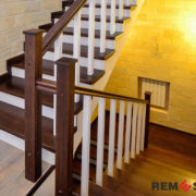 Деревянная лестница №8