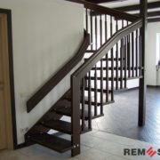 Деревянное ограждение лестницы №11