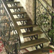Кованая лестница №1