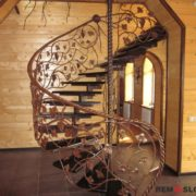 Кованая лестница №10