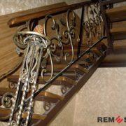 Кованая лестница №12