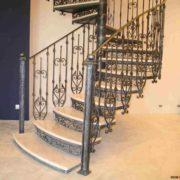 Кованая лестница №7