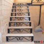 Кованая лестница №8