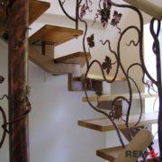 Кованая лестница №9