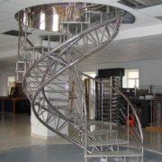 Лестница из нержавеющей стали №12