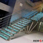 Лестница из нержавеющей стали №2