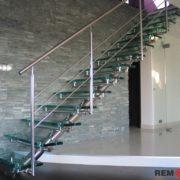 Лестница из нержавеющей стали №3