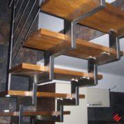 Лестница из нержавеющей стали №5