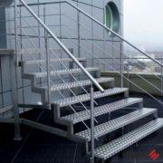 Лестница из нержавеющей стали №9