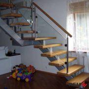 Лестница на металлическом каркасе №10