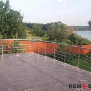 Ограждение балкона из нержавеющей стали №12