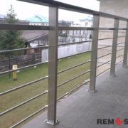 Ограждение балкона из нержавеющей стали №3