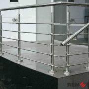 Ограждение балкона из нержавеющей стали №9