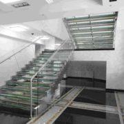 Ограждение из нержавеющей стали со стеклом №10