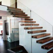 Ограждение из нержавеющей стали со стеклом №2