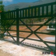 Сварные металлические ворота №4