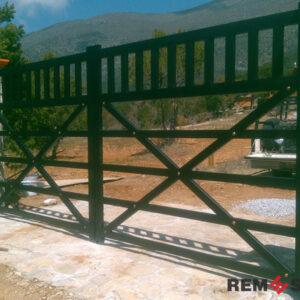 металлические ворота №4