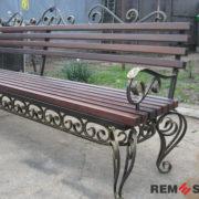 Кованая скамейка №11