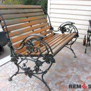 Кованая скамейка №3