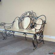 Кованая скамейка №8