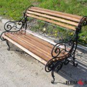 Кованая скамейка №9
