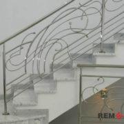 Ограждения лестниц из нержавеющей стали №004