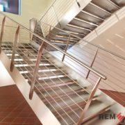 Ограждения лестниц из нержавеющей стали №006