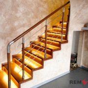 Ограждения лестниц из нержавеющей стали №007
