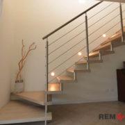 Ограждения лестниц из нержавеющей стали №009
