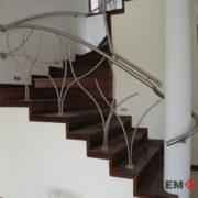 Ограждения лестниц из нержавеющей стали №011