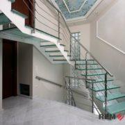 Ограждения лестниц из нержавеющей стали №012