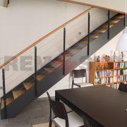 Лестница на каркасе 35