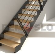 Лестница на каркасе 37