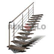 Лестница на монокосоуре с гнутыми ступенями