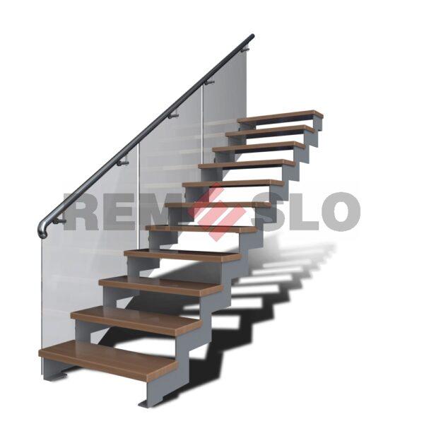 Лестница на косоурах с применением лазерной резки