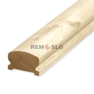Фигурный поручень деревянный 45×75 мм, кавказский дуб, 4 метра