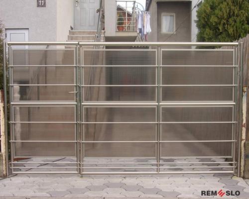 Ворота из нержавеющей стали №1