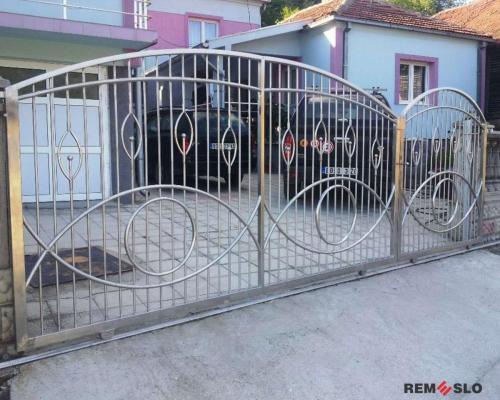 Ворота из нержавеющей стали №11