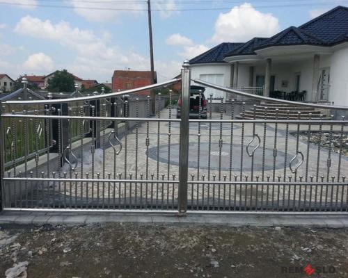 Ворота из нержавеющей стали №12