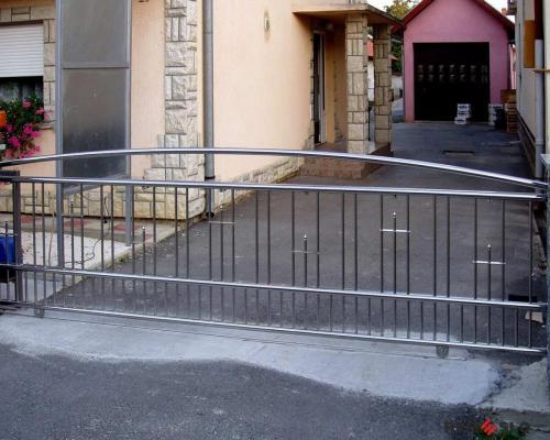 Ворота из нержавеющей стали №13