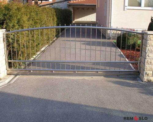 Ворота из нержавеющей стали №14