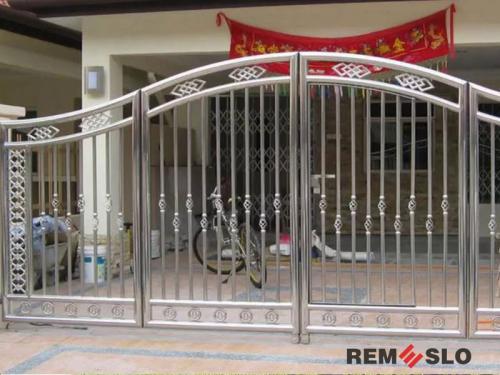 Ворота из нержавеющей стали №15