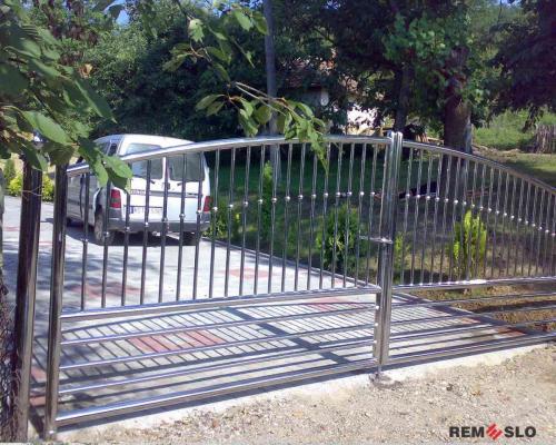 Ворота из нержавеющей стали №16