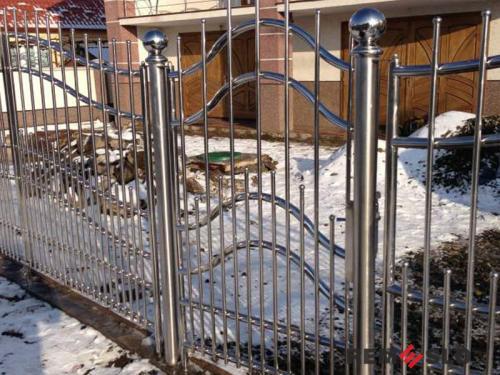 Ворота из нержавеющей стали №17