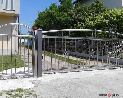 Ворота из нержавеющей стали №18