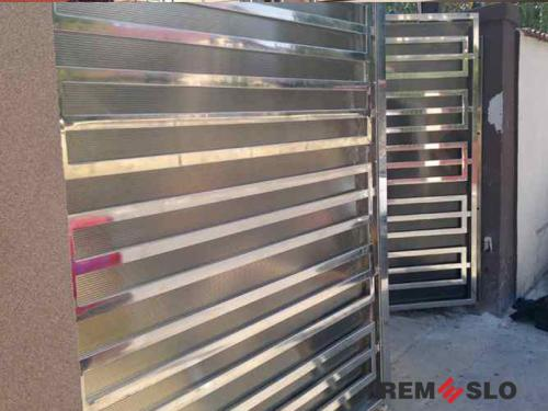 Ворота из нержавеющей стали №2