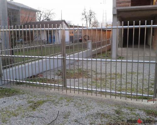 Ворота из нержавеющей стали №4