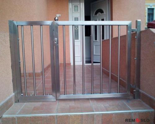 Ворота из нержавеющей стали №7